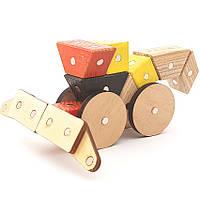 Магнитный деревянный конструктор Зевс Село 25 деталей (С-13)