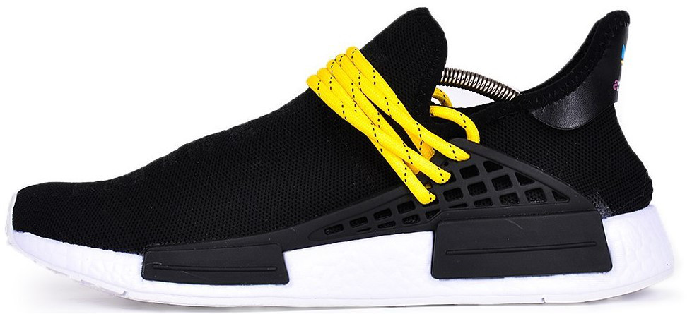 "Мужские кроссовки adidas x Pharrell Williams Human Race NMD ""Black/White"" (Адидас Фарель) черные"