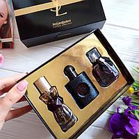 Подарочный набор парфюмерии Yves Saint Laurent 3 в 1 (реплика), фото 1