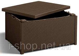 Стіл-скриня мистецтв. ротанг Arica, коричневий, фото 3