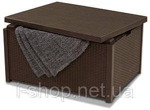 Стіл-скриня мистецтв. ротанг Arica, коричневий, фото 2