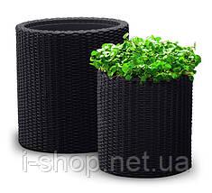 Набор горшков для цветов Cylinder Planter Set, серый, фото 2