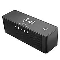 JY-28 Qi Беспроводное быстрое зарядное устройство Bluetooth NFC Поддержка динамика Часы TF карта USB AUX 1TopShop, фото 2