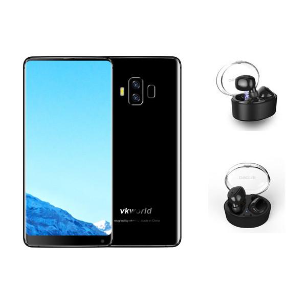 VkworldS8Черный5.99дюймов5500mAh 4GB 64GB MTK6750T Смартфон с беспроводной гарнитурой Dacom 1TopShop