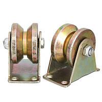 2шт 660lb 2 дюймов V Тип Раздвижные ворота для колес Ролик Стальная колесная направляющая с роликами роликов Детали машин - 1TopShop