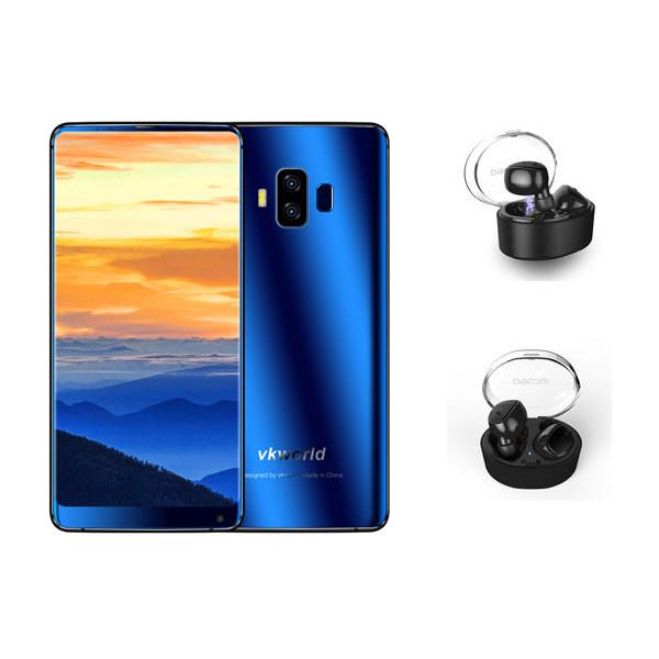 VkworldS8синий5.99дюймов5500mAh 4GB 64GB MTK6750T Смартфон с беспроводной гарнитурой Dacom Wireless синийtooth 1TopShop