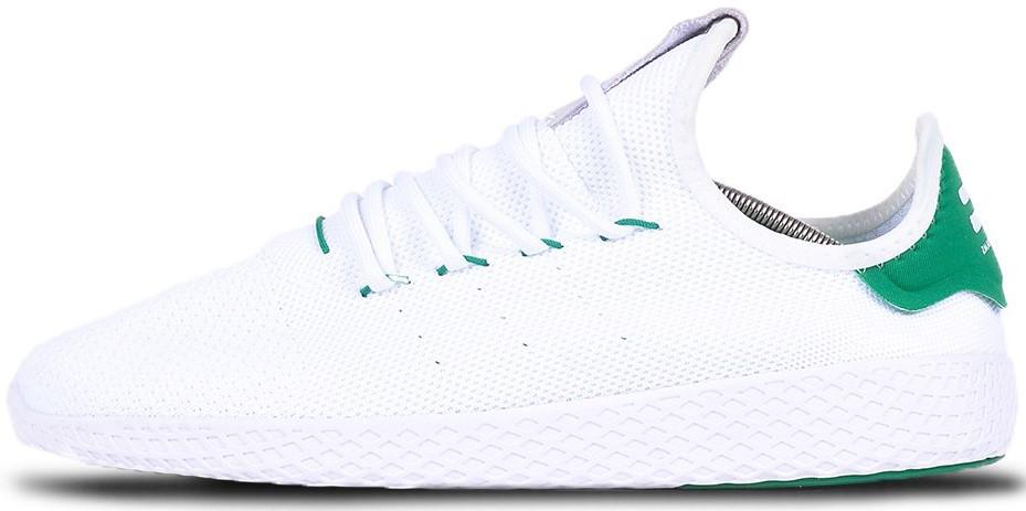 "Мужскиекроссовки adidas Tennis HU Pharrell ""White/Green"" (Адидас Теннис) белые"