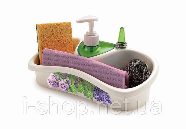Кухонный аксессуар с емкостью для хранения и жидкого мыла, фото 2