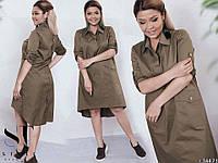 Женское платье-рубашка арт.7086 (рр.48-50,52-54,56-58)