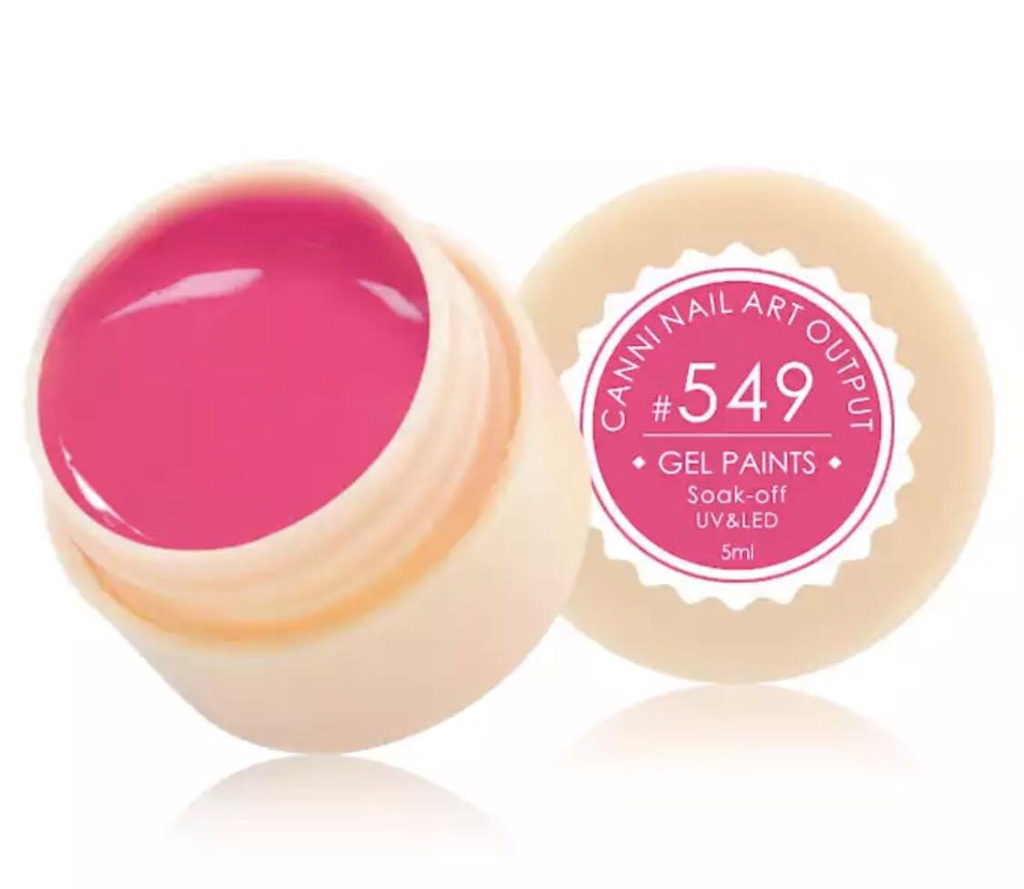 Гель-краска CANNI 549 (яркий насыщенный розовый), 5 мл