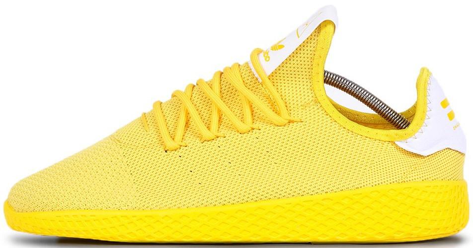 """Мужскиекроссовки adidas Tennis HU Pharrell """"Yellow"""" (Адидас Теннис) желтые"""