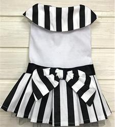 Платье для собак белое в полоску