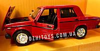 Металлическая машинка 2106 Автопром Красная Жигули машина