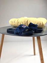 Женские тапочки Fila Slippers Fur Blue, Фила слиперс, фото 3