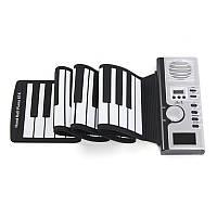 61 Keys Roll Up Digital Electronic LCD Клавиатура Фортепиано 128 Rhythms Tone MIDI Gift
