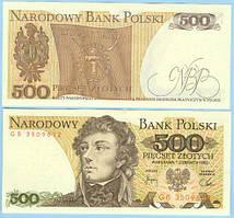 Польша 500 злотых 1982  UNC