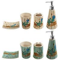 Набор для ванной комнаты 4 предмета (82926) Керамика