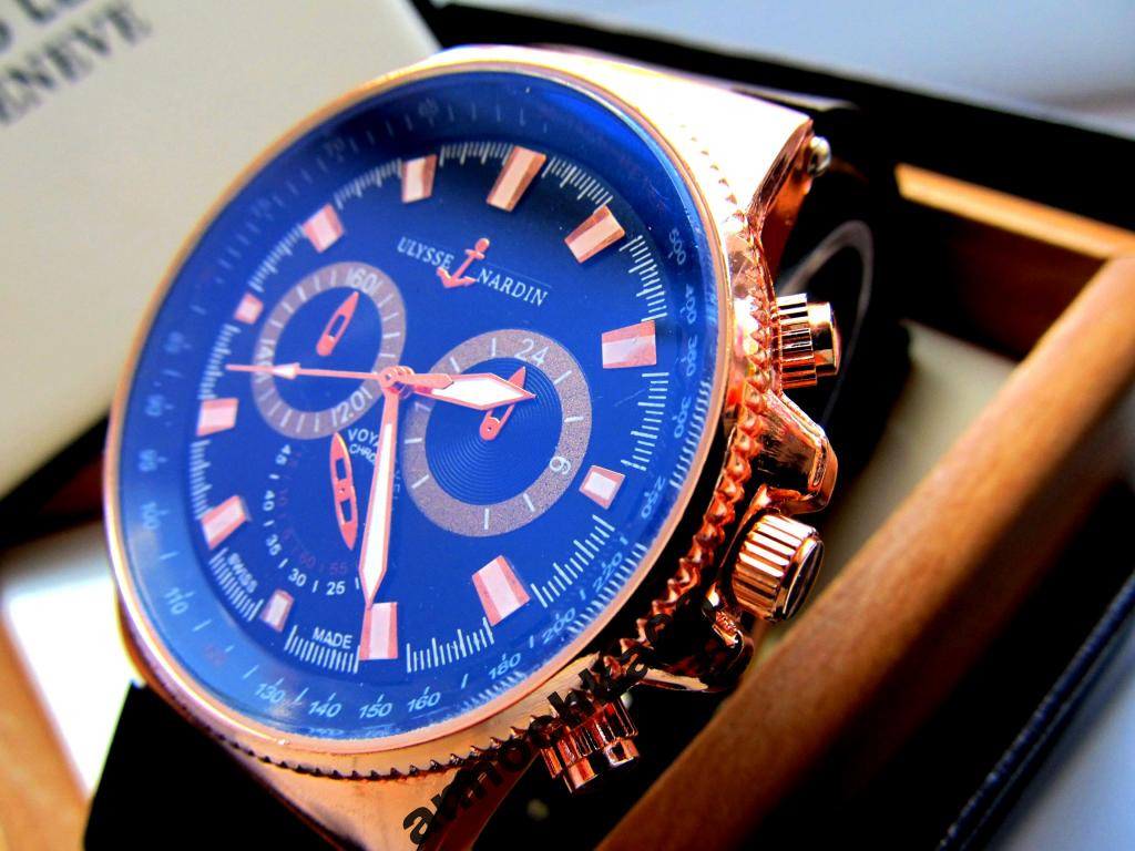 Кварцевые мужские часы Ulysse Nardin под Rolex 986fc3027193d