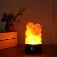 Гималайская соль Лампа Розовый Соль Рок-Кристалл Ночной свет с сенсорным диммером