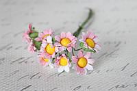 Ромашки 1.5 см 10 шт/уп. розового цвета, фото 1