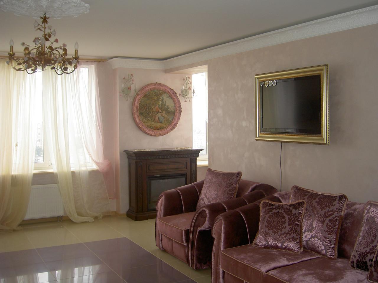 Эффект бархата отточенто- стоимость нанесения декоративного покрытия с материалом 300 грн./кв.м.