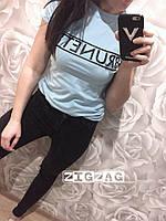 Женская футболка с надписью BRUNETTE
