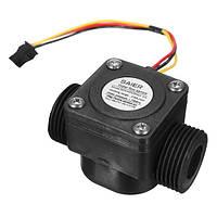 60L / min Расходомер воды Датчик DN20 G3/4 дюймов DC 5V Расходомер счетчика жидкости