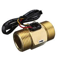 DN25 Медь Расход воды Датчик Импульсный выход 4 ~ 45L / min Расходомер жидкого переключателя