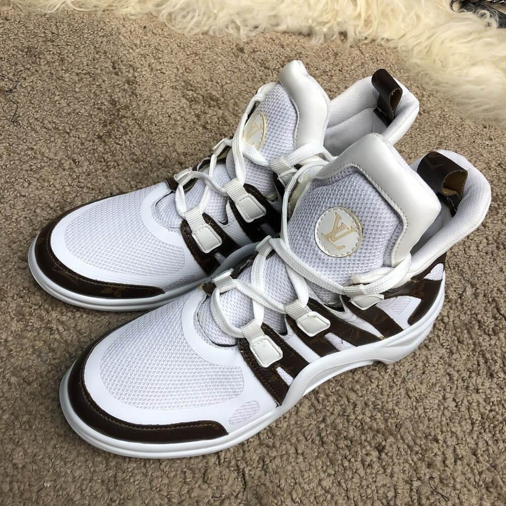 c7c5298374f7 Кроссовки женские Louis Vuitton Archlight 18640 белые - купить по ...