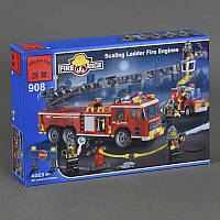 """BRICK 908 (18) """"Пожарная тревога"""", 607 дет, в коробке СОБРАННЫЙ"""