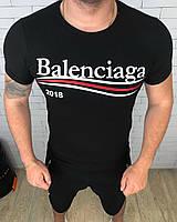 Футболка мужская Balanciaga D3385 черная