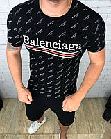 Футболка мужская Balanciaga D3383 черная, фото 1