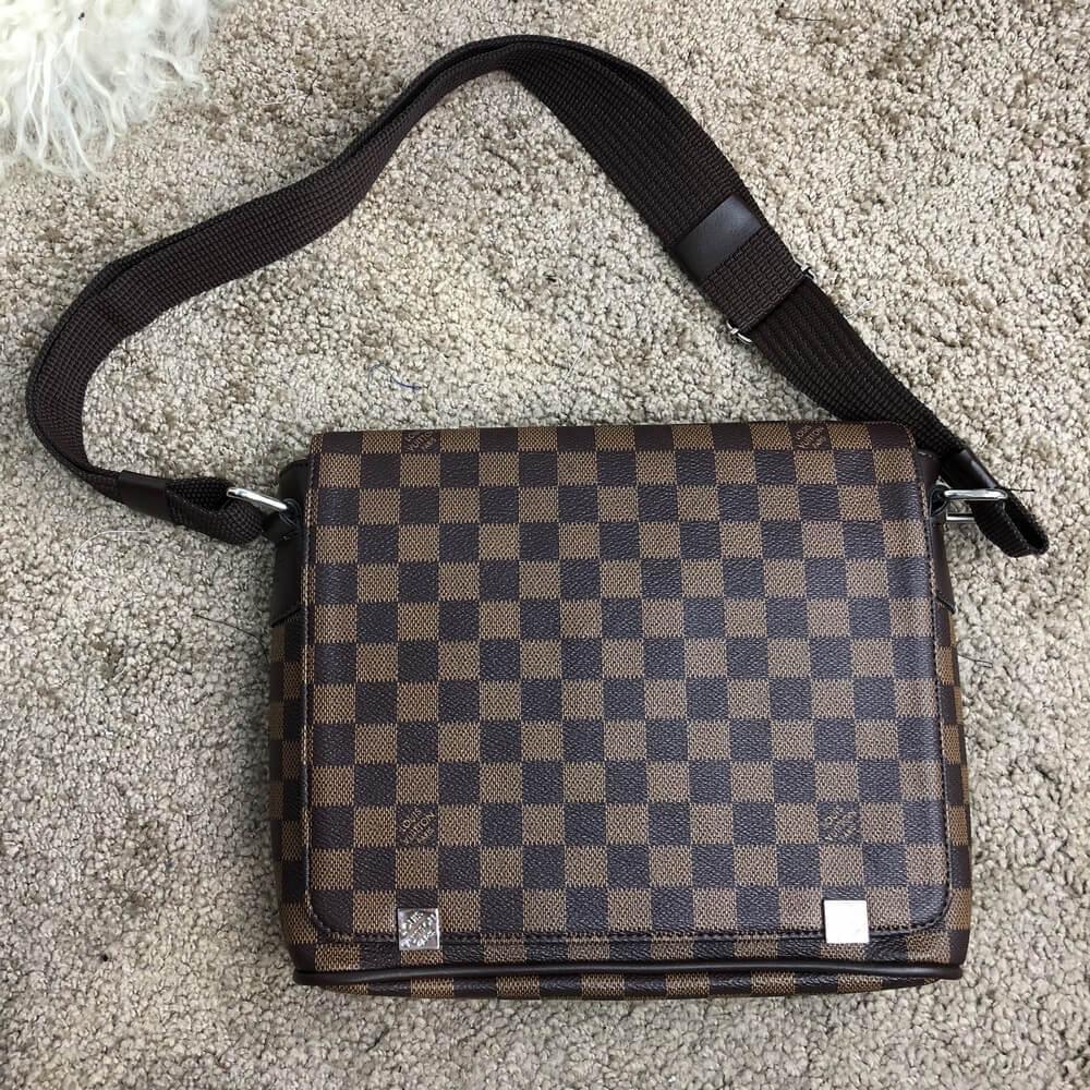 39511b6149b6 Сумка мужская Louis Vuitton 18677 темно-коричневая - купить по ...