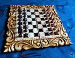 Набор шахматы-нарды-шашки ручной работы.