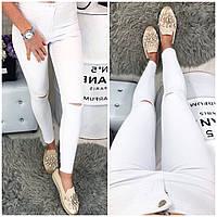 0785-03 белый Selfy (26,27,28,29,31, 5 ед.) джинсы женские летние стрейчевые, фото 1