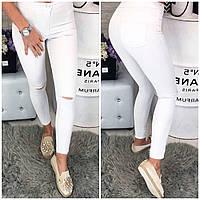 0785-04 белый Selfy (27,28,29,30,32, 5 ед.) джинсы женские летние стрейчевые, фото 1