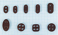 Стопор для шнура коричневый