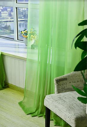 Готовая тюль-вуаль Дэграде Зеленый, фото 2