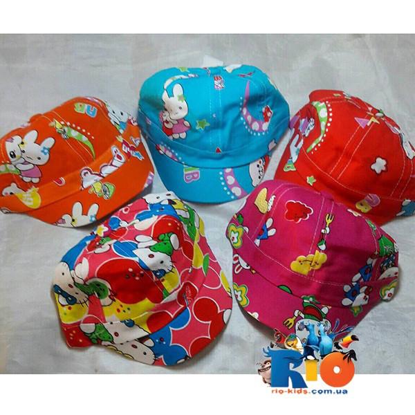 Детская летняя кепка для девочки  р-р 48 (5 ед. в уп)