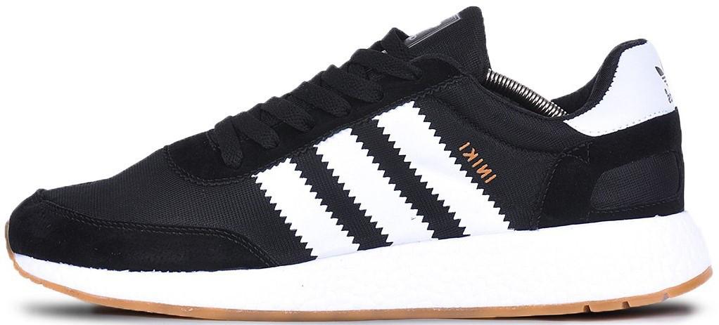 """Мужскиекроссовки adidas Iniki """"Black/White"""" (Адидас Иники) черные"""