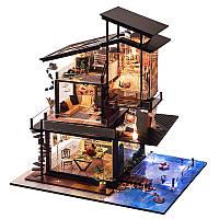 T-Yu Dollhouse DIY Валенсия Прибрежная вилла Кукольный дом Миниатюрная мебель Набор Коллекция подарков
