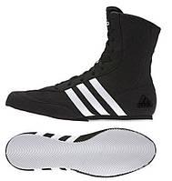 Боксерки Adidas Box Hog 2 черные. Обувь для бокса Адидас