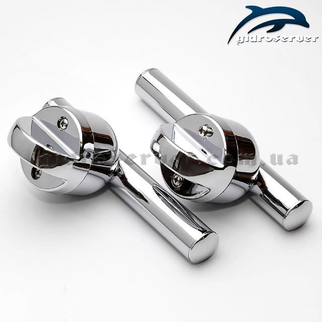 Ручка для стеклянных дверей душевых кабинок H-10 с расстоянием между центрами крепежных отверстий в 40 мм.