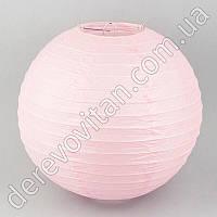 Бумажный подвесной фонарик, светло-розовый, 20 см