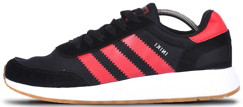 """Мужскиекроссовки adidas Iniki """"Black/Red"""" (Адидас Иники) черные"""