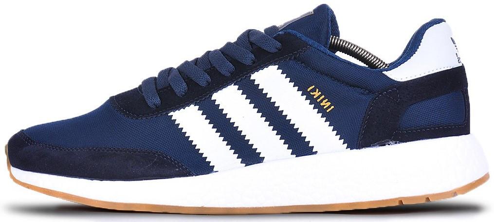 "Мужскиекроссовки adidas Iniki ""Navy/Black/White"" (Адидас Иники) темно-синие"