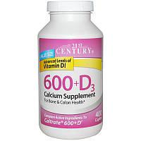 Кальций 600+D3, 21st Century Health Care, 400 капсул