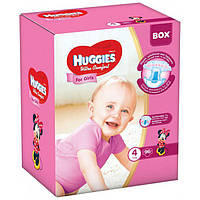 Huggies Ultra Comfort для девочек 4 ( 7-16 ) 96 шт!