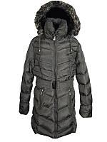 Подростковое зимнее пальто для девочки 10-12 лет  стеганое