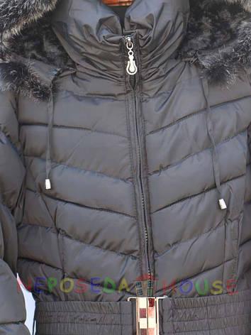 Подростковое зимнее пальто для девочки 10-12 лет  стеганое, фото 2